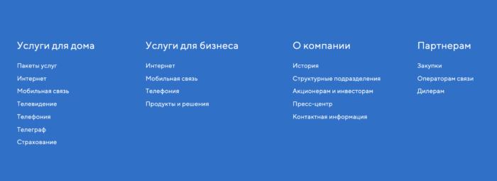 Личный кабинет пользователя Таттелеком